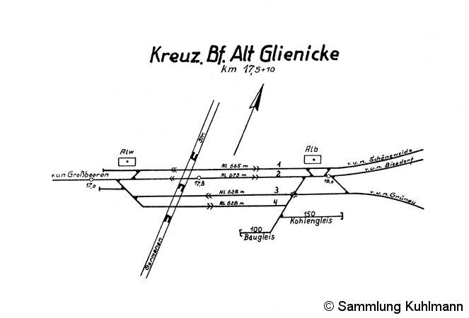 Bild: Gleisplanskizze 1947
