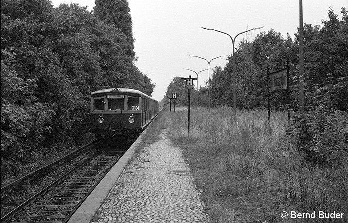 Bild: einfahrender Zug von Schönholz kommend