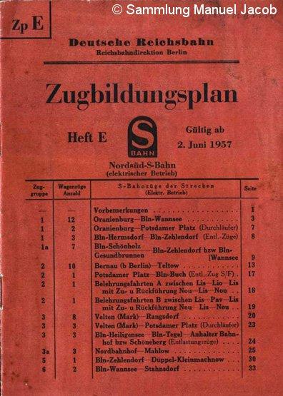 Bild: Titel Buchfahrplan 1957