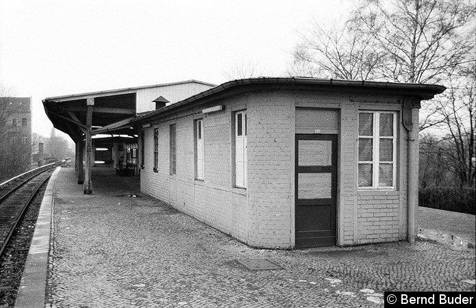 Bild: Bahnsteig Ende 1983