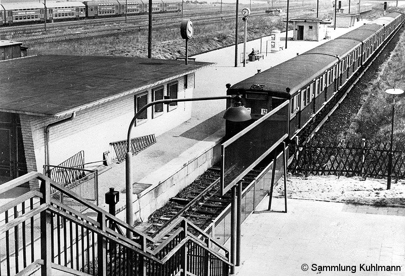 Bild: erster Bahnsteig 1965