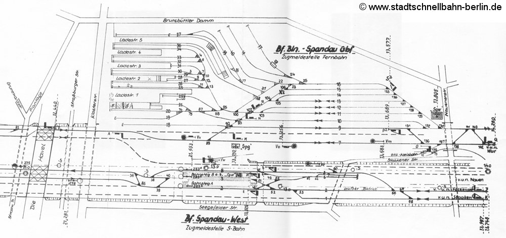 Bild: Gleisplan von 1974