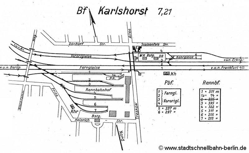 Bild: Gleisplan vermutlich 1950er Jahre