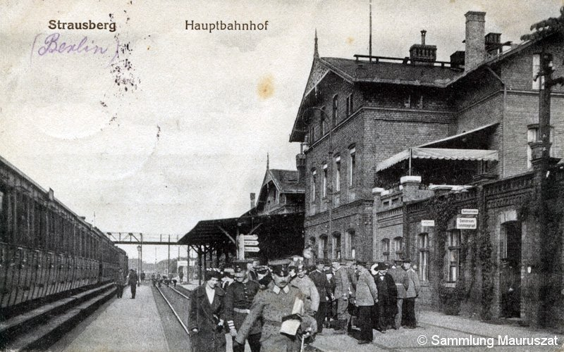 Bild: Bahnhofsansicht um 1918