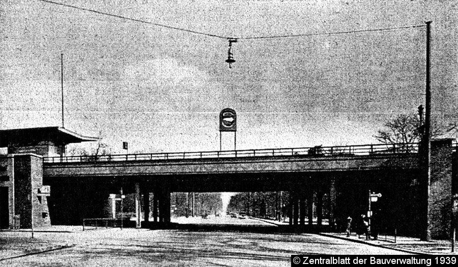 Bild Bahnbrücken vor Umbau der Ost-West-Achse