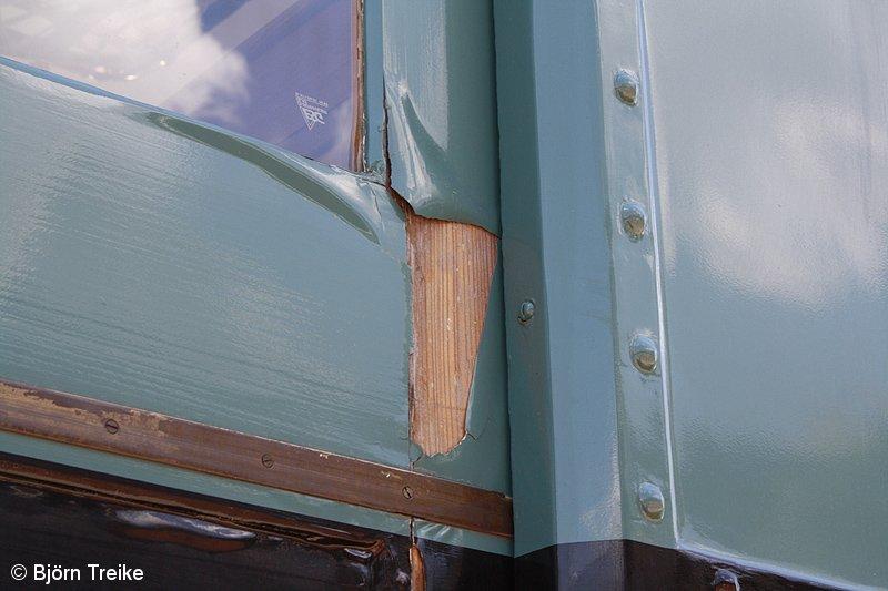 Bild: Schäden am Traditionsviertelzug im Mai 2012