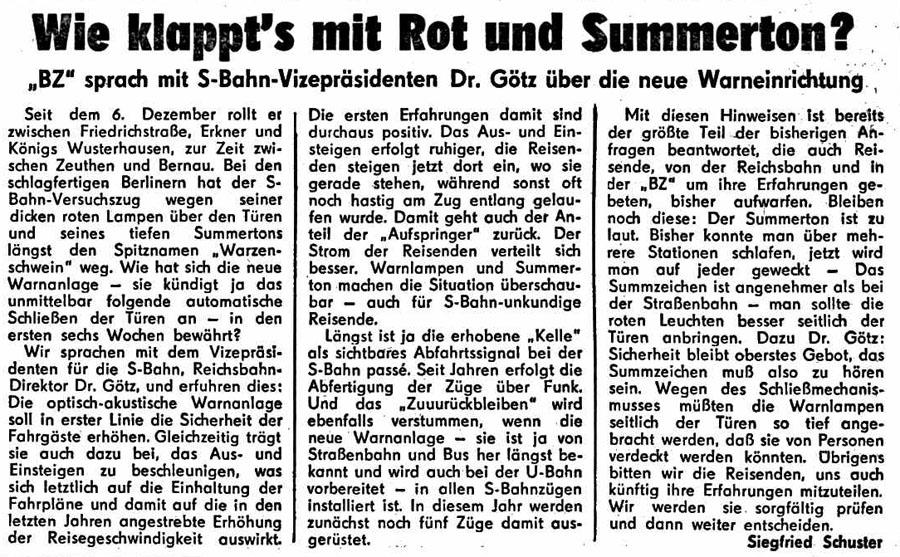 Bild: Artikel Berliner Zeitung vom 19.1.1976