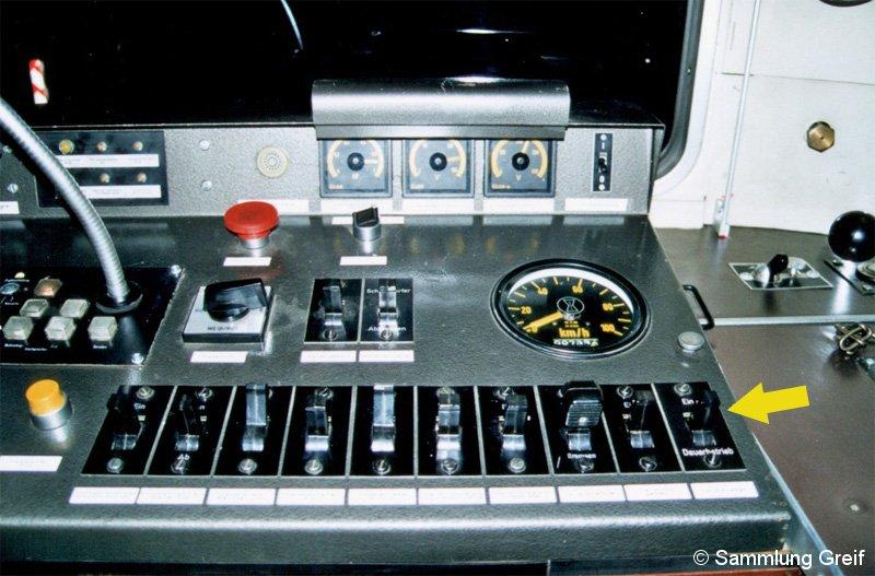 Bild: Fahrpult Hilfsgerätezug BR 478