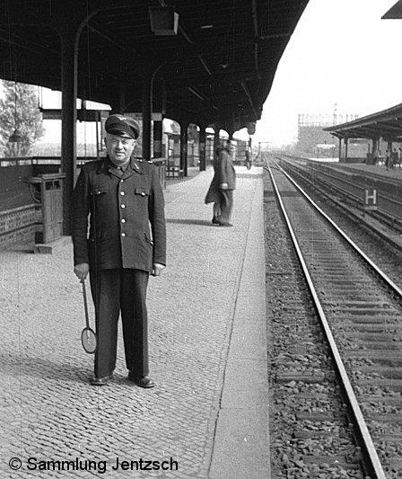 Bild: Aufsicht Bf Jungfernheide 1951-1