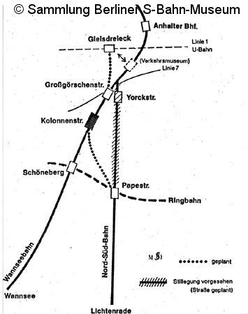 Bild: S-Bahnverlegung der Dresdener Bahn