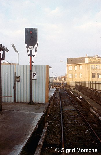 Bild: Gleissituation 1980er Jahre östliches Gleisfeld