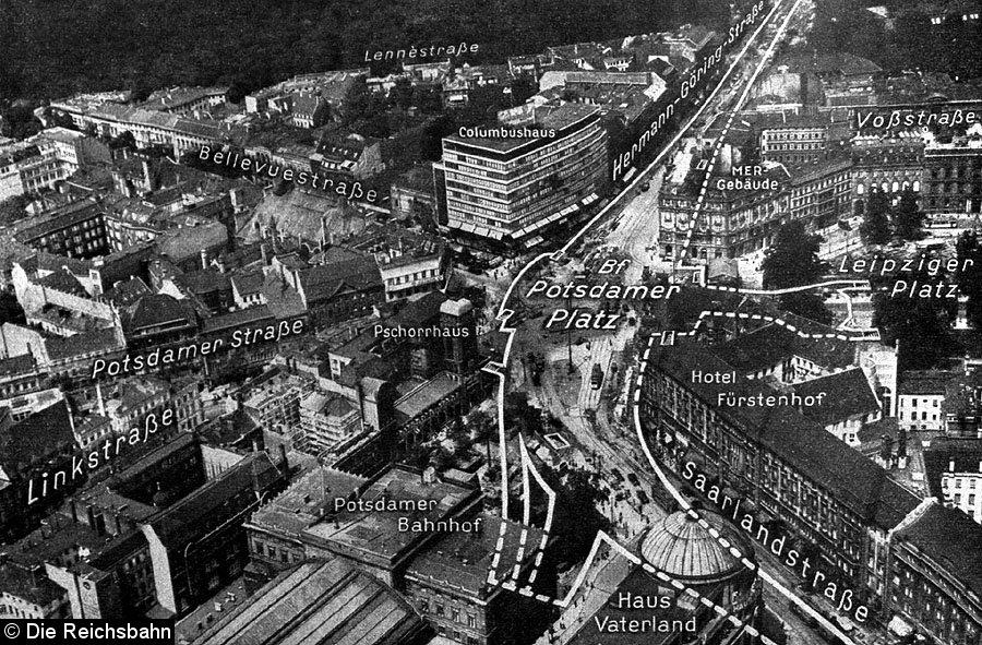 Bild: Luftbild mit Umgrenzungslinien