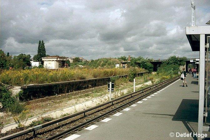 Bild: alter Vorortbahnsteig Papestraße