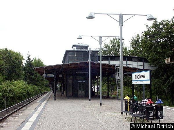 Bild: Bahnsteigansicht Nikolassee Wannseebahn