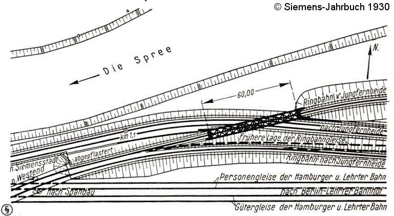 Bild: Lageplan Ringbahnkreuzung
