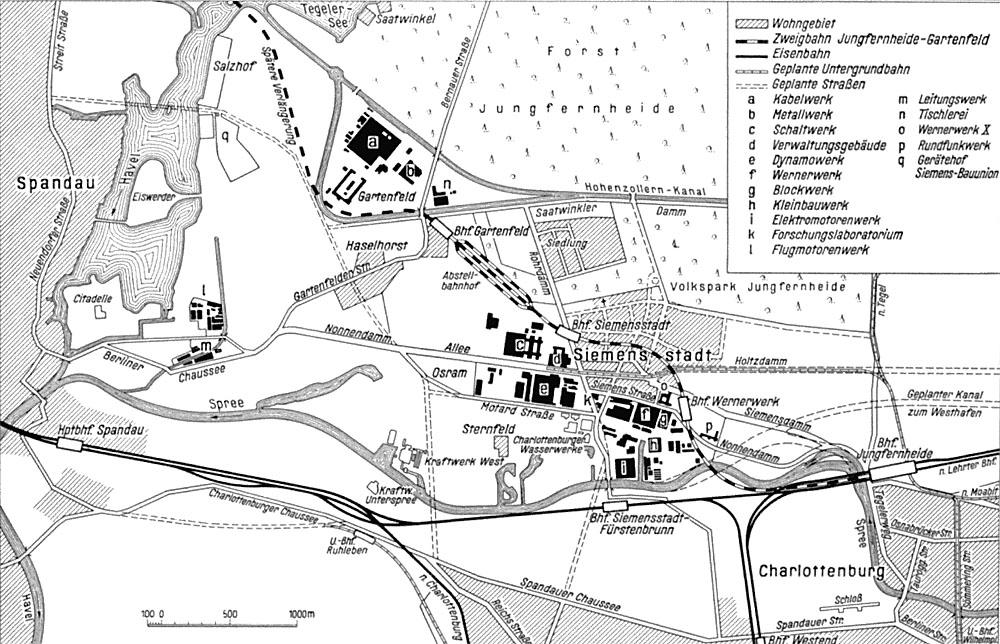 Bild: Lageplan von 1930