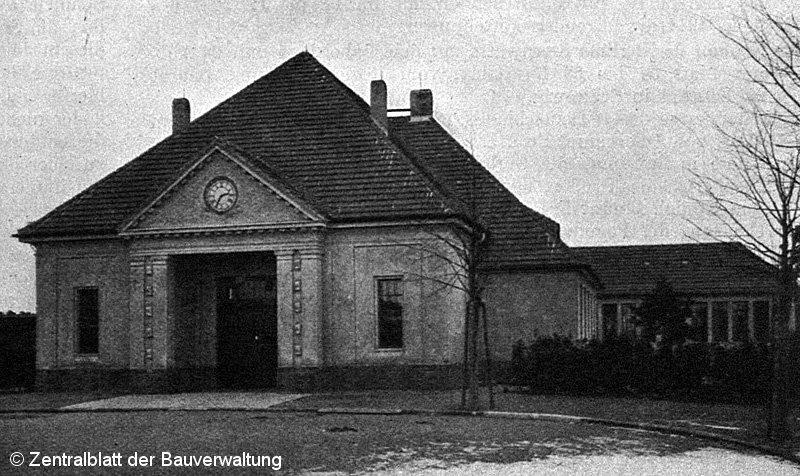 Bild: Empfangsgebäude in Stahnsdorf 1913
