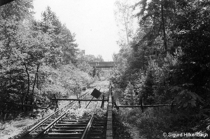 Bild: Grenzbarriere im Jahr 1962
