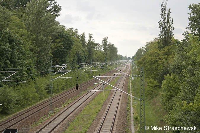 Bild: Lehrter Bahn Blick nach Westen