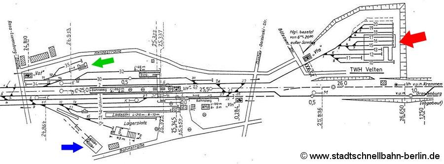 Bild: Gleisplan von 1990