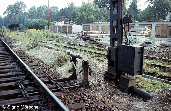 Bild: mechanische Fahrsperre in Spindlersfeld