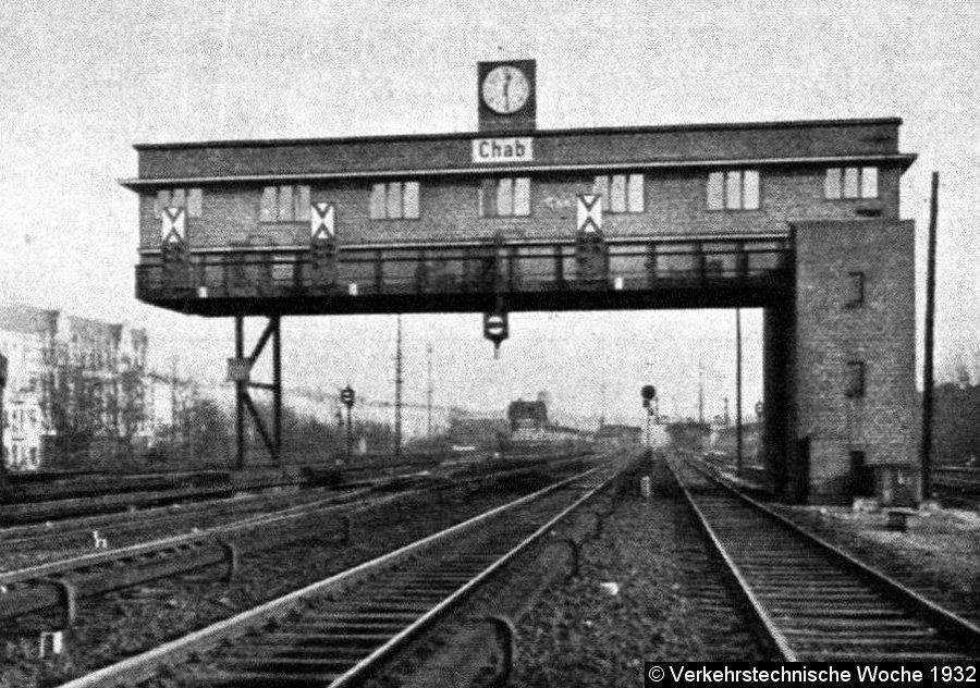 Bild: Signalbrücke mit Sv-Signalen
