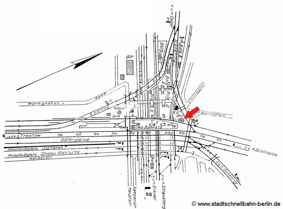 Bild: Gleisplan aus dem Jahre 1962