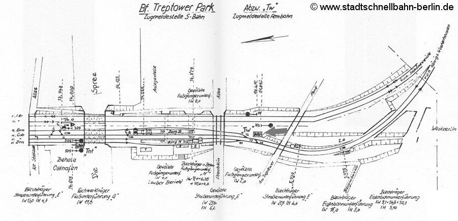 Bild: Gleisplan aus dem Jahre 1967