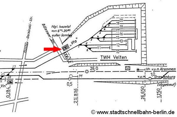 Bild: Gleisplan 1990