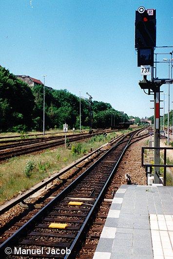 Bild: Ausfahrsignal linkes Gleis Bf Hermannstraße